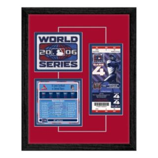 St. Louis Cardinals 2006 World Series Replica Ticket And Patch Frame