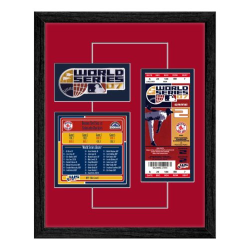 Boston Red Sox 2007 World Series Replica Ticket And Patch Frame