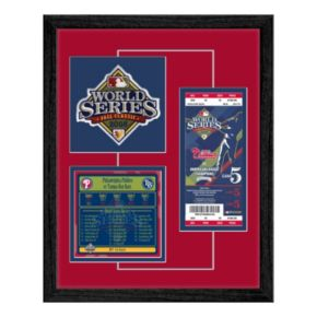 Philadelphia Phillies 2008 World Series Replica Ticket And Patch Frame