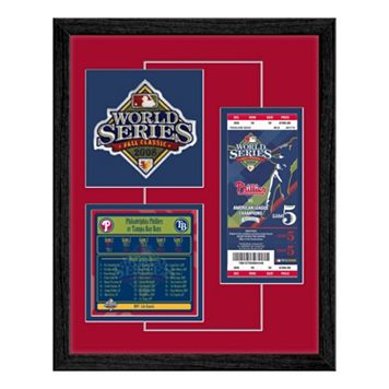 Philadelphia Phillies 2008 World Series Replica Ticket & Patch Frame