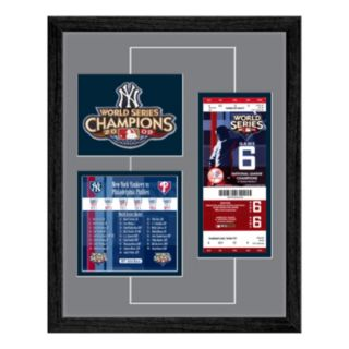 New York Yankees 2009 World Series Replica Ticket And Patch Frame