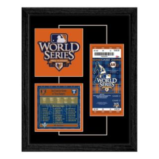 San Fransisco Giants 2010 World Series Replica Ticket & Patch Frame