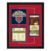 St. Louis Cardinals 2011 World Series Replica Ticket And Patch Frame