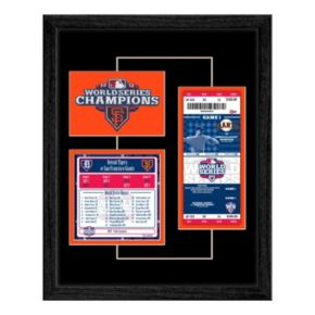 San Francisco Giants 2012 World Series Replica Ticket And Patch Frame