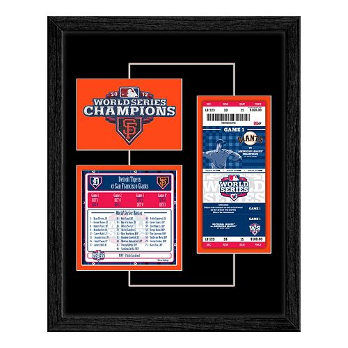 San Francisco Giants 2012 World Series Replica Ticket & Patch Frame