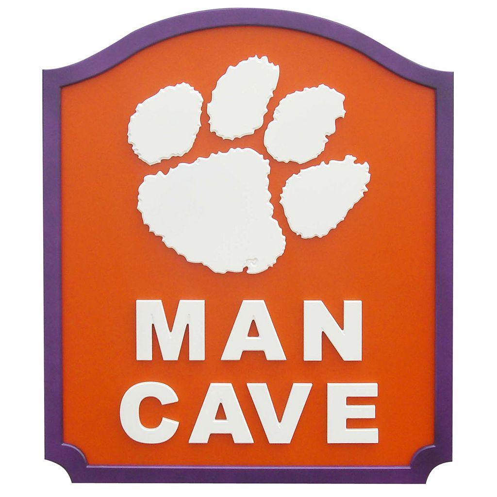 Clemson Tigers Man Cave Shield Wall Art