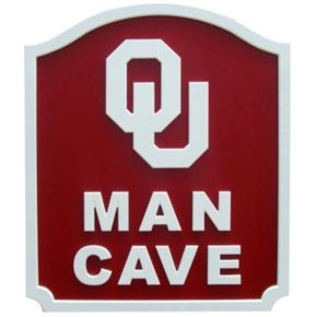 Oklahoma Sooners Man Cave Shield Wall Art