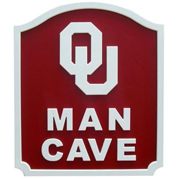Oklahoma Sooners Man Cave Shield Wall Art