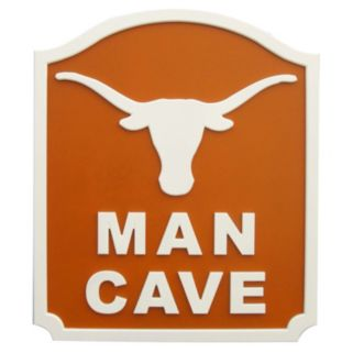 Texas Longhorns Man Cave Shield Wall Art