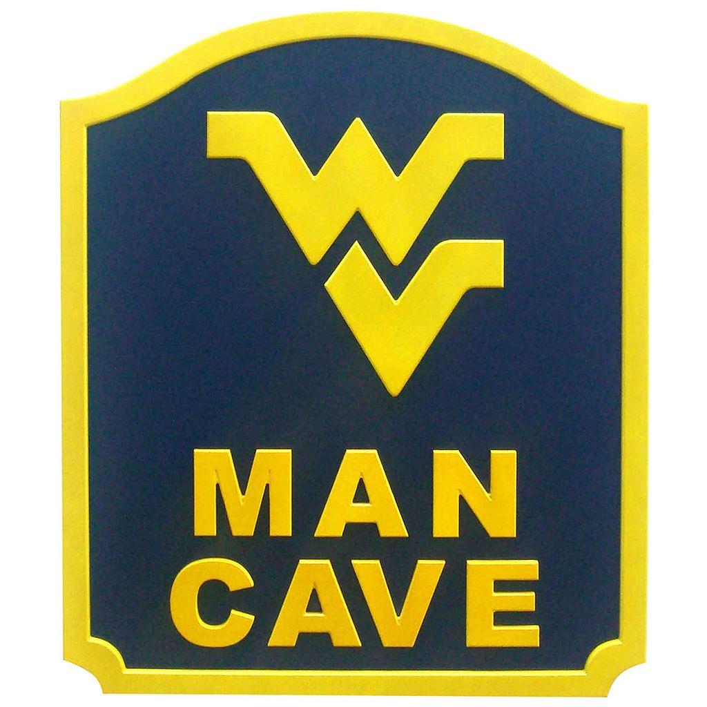 West Virgina Mountaineers Man Cave Shield Wall Art