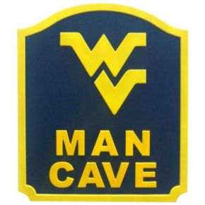 West Virgina Mountaineers Man Cave Shield Wall Art