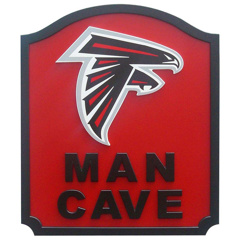 Atlanta Falcons Man Cave Shield Wall Art