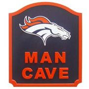 Denver Broncos Man Cave Shield Wall Art