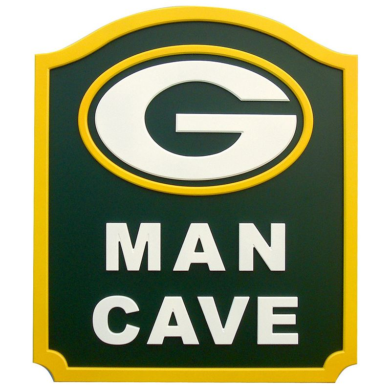 Man Cave Store Glace Bay : Green bay packers man cave shield wall art