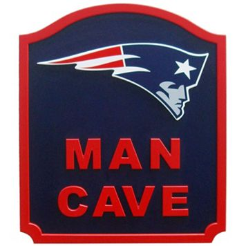 New England Patriots Man Cave Shield Wall Art