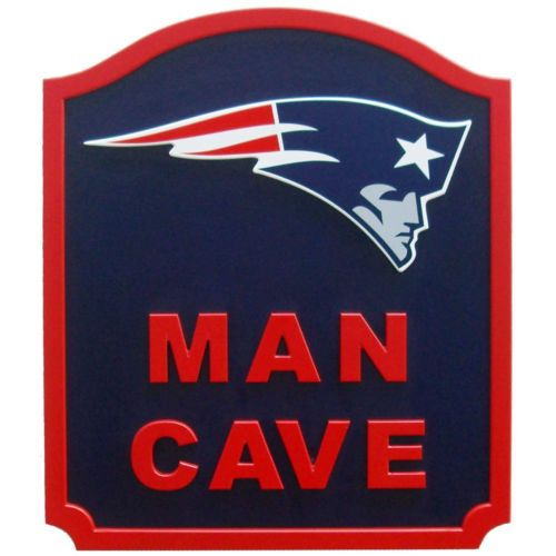New England Patriots Man Cave Shield Wall Art