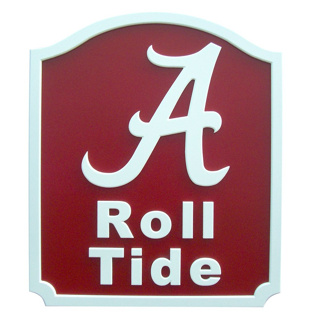 Alabama Crimson Tide Carved Team Shield Wall Art