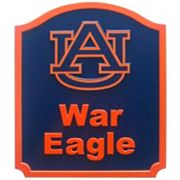 Auburn Tigers Carved Team Shield Wall Art