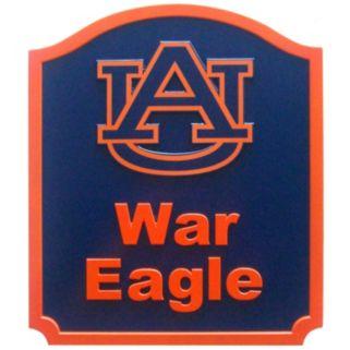 Auburn Tigers Carved Team Shield Wall Art
