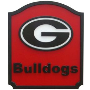 Georgia Bulldogs Carved Team Shield Wall Art