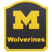 Michigan Wolverines Carved Team Shield Wall Art