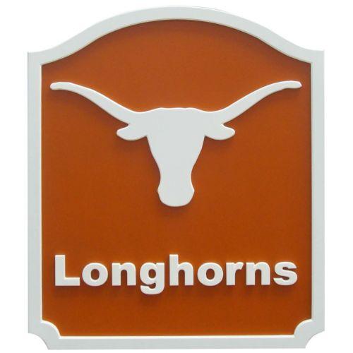 Texas Longhorns Carved Team Shield Wall Art