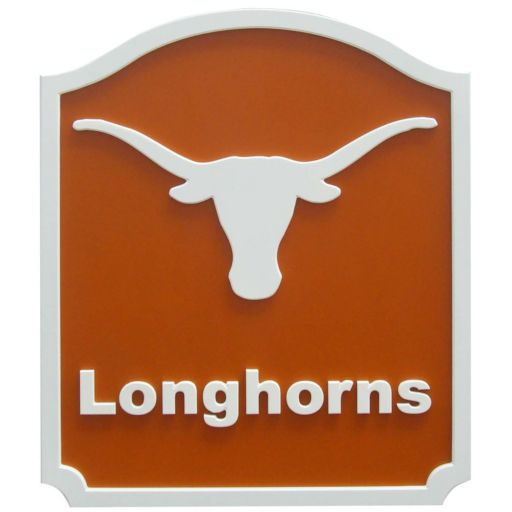 Texas Longhorns Carved Team Shield Wall Art