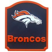 Denver Broncos Carved Team Shield Wall Art