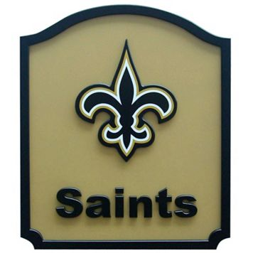 New Orleans Saints Carved Team Shield Wall Art