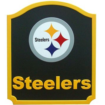 Pittsburgh Steelers Carved Team Shield Wall Art