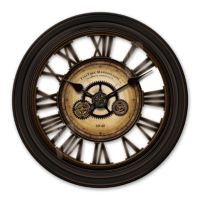 FirsTime 24-in. Gearworks Round Wall Clock