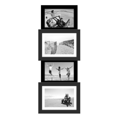 Malden Black 4-Opening Vertical Collage Frame