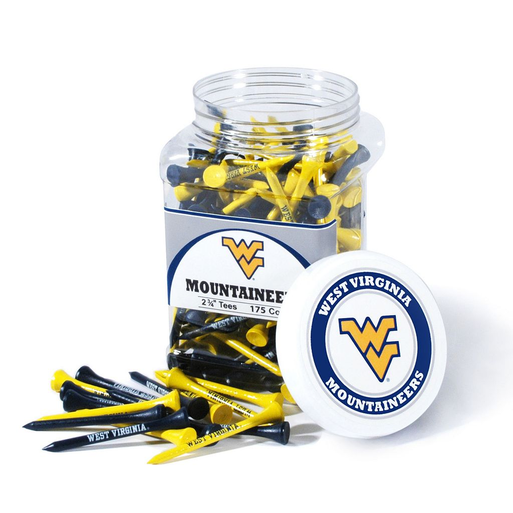 Team Golf West Virginia Mountaineers 175-ct. Golf Tee Jar