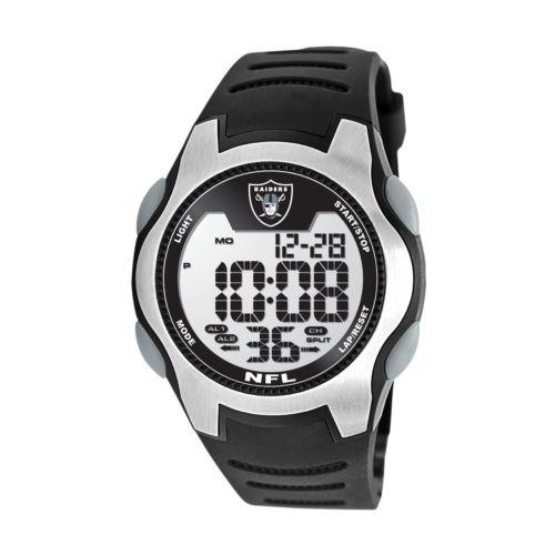Game Time Training Camp Oakland Raiders Silver Tone Digital Chronograph Watch - NFL-TRC-OAK - Men