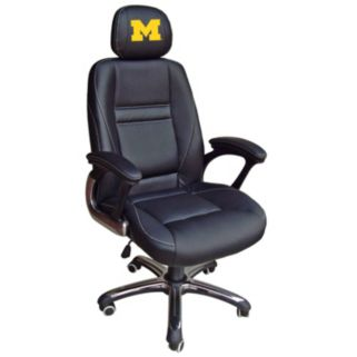 Michigan Wolverines Head Coach Leather Office Chair
