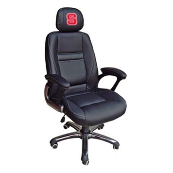 North Carolina State Wolfpack Head Coach Leather Office Chair