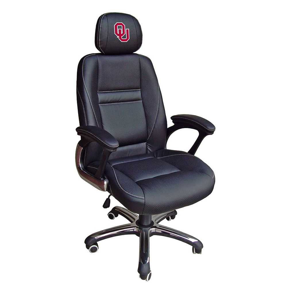 Oklahoma Sooners Head Coach Leather Office Chair