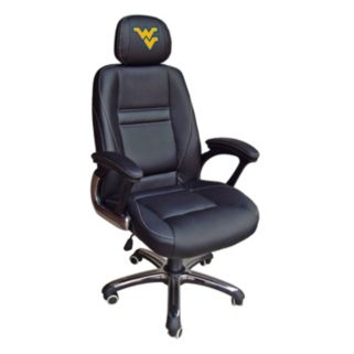 West Virginia Mountaineers Head Coach Leather Office Chair
