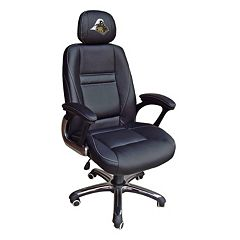 Purdue Boilermakers Head Coach Leather Office Chair
