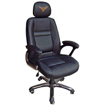Texas Longhorns Head Coach Leather Office Chair
