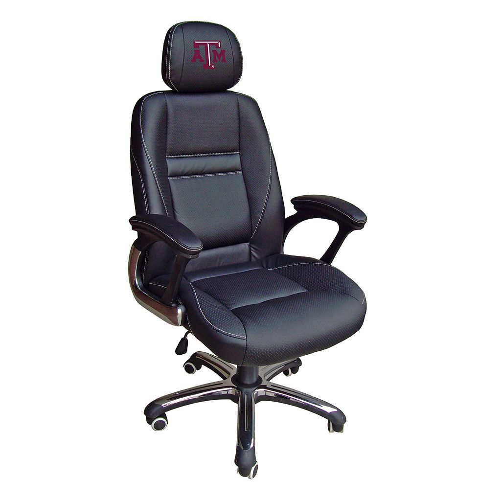 Texas A&M Aggies Head Coach Leather Office Chair