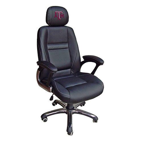 Texas A&M Aggies Head Coach Leather Office Chair