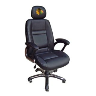 Chicago Blackhawks Head Coach Leather Office Chair