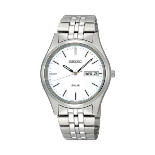 Seiko Solar Stainless Steel Watch - SNE031 - Men