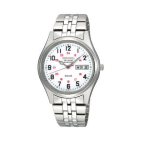 Seiko Men's Stainless Steel Solar Watch - SNE045