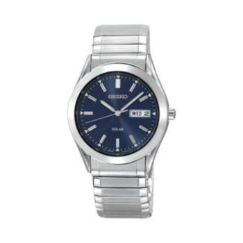 Seiko Men's Stainless Steel Solar Expansion Watch - SNE057