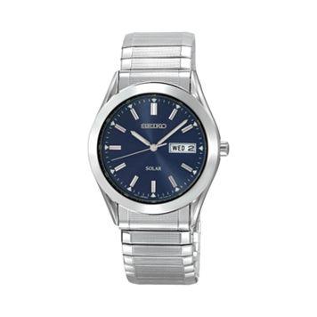 Seiko Men's Stainless Steel Solar Expansion Watch - SNE057