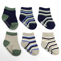 Skechers 6-pk. Boys Striped and Solid Socks - Baby