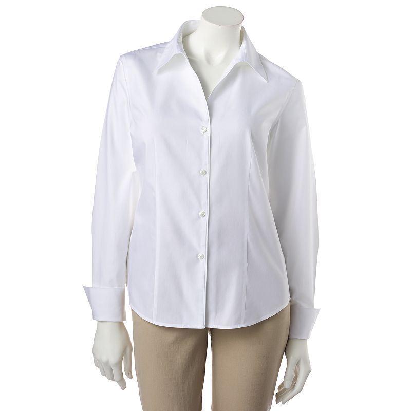 Vicky tiel solid wrinkle free shirt women 39 s Wrinkle free shirts for women