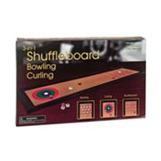 Tabletop 3-in-1 Shuffleboard, Bowling and Curling Set